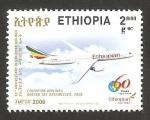 Sellos de Africa - Etiopía -  60 anivº de ethiopian aerolineas