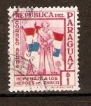 Stamps Paraguay -  SOLDADO   Y   BANDERAS