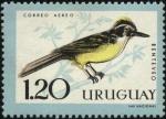 Stamps Uruguay -  Aves autóctonas. Benteveo.