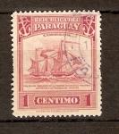 Sellos de America - Paraguay -  BARCO   MERCANTE