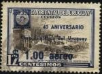 Sellos de America - Uruguay -  Puerta exterior ciudadela de Montevideo año 1836. Imagen del primer sello uruguayo. Sobreimpreso 40