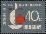 Sellos de America - Uruguay -  100 años de la Cruz Roja internacional.