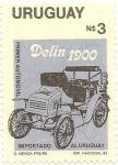 Stamps America - Uruguay -  Primer Automovil Importado al Uruguay Delin 1900