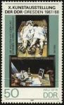 Stamps Germany -  X. Exposición de Arte de la República Democrática Alemana, Dresden 1987-1988. Autor WILLI SITTE.