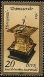 Stamps Germany -  Reloj solar o cuadrante solar horizontal del año 1611.