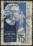 Sellos de America - Uruguay -  Capitán de Dragones EUSEBIO VIDAL, fundador de San José de Mayo en 1873.