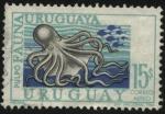 Stamps Uruguay -   Fauna ictícola uruguaya. Pulpo.