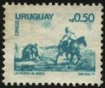 Stamps Uruguay -  Reproducción del cuadro -La Yerra- de Juan Manuel Blanes.