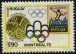 Stamps Uruguay -  Uruguay campeón Olímpico de Fútbol en 1924. Montreal 76.