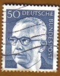 Stamps Germany -  Presidente GUSTAV HEINEMAN