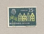 Sellos de America - Antillas Neerlandesas -  Casas