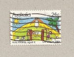 Stamps Australia -  Pintura de Holly Alvarez