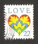 Stamps : America : United_States :  mensaje de amor