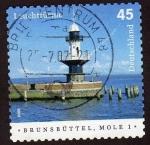 Stamps Germany -  Faros Brunsbuttel Mole 1