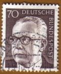 Stamps Germany -  Presidente GUSTAV HEINEMAN