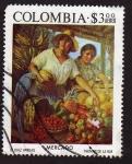 Sellos de America - Colombia -  Mercado ( Thomas de la Rue)