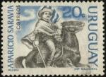 Sellos de America - Uruguay -  Aparicio Saravia.