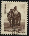 Stamps Uruguay -  Reproducción del cuadro -El Matrero- de Juan M. Blanes.