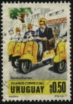 Stamps Uruguay -  Servicio Expreso del Correo. 150 años del Correo uruguayo.