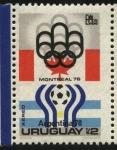 Sellos de America - Uruguay -  Olimpíadas Montreal 76. Mundial de futbol Argentina 78.