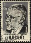 Stamps Uruguay -  Dr. Martín C. Martínez 1889-1959.
