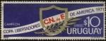 Stamps America - Uruguay -  Club Nacional de Futbol. Campeón de la Copa Libertadores de América año 1971.
