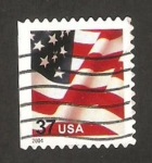 Stamps United States -  Bandera