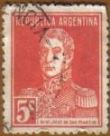 Sellos del Mundo : America : Argentina : General JOSE DE SAN MARTIN