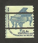 Stamps of the world : United States :  piano antiguo