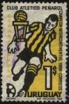 Sellos de America - Uruguay -  Club atlético Peñarol campeón intercontinental año 1966.