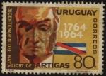 Sellos de America - Uruguay -  200 a�os del nacimiento del General Artigas. Bandera de Artigas.
