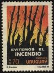 Sellos de America - Uruguay -  Evitemos incendios de los bosques.