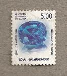 Sellos de Asia - Sri Lanka -  Zafiro azul