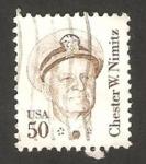 Sellos de America - Estados Unidos -  1561 - Chester W. Nimitz, militar, héroe de la Guerra del Pacifico