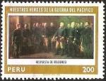Sellos del Mundo : America : Perú : NUESTROS HEROES DE LA GUERRA DEL PACIFICO - RESPUESTA DE BOLOGNESI