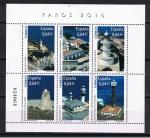 Sellos del Mundo : Europa : España : Edifil  4594  Faros y puertos de España.   Hoja con las fotos de seis faros de España.