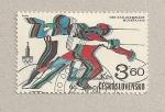 Sellos de Europa - Checoslovaquia -  Olimpiadas Moscú:Esgrima