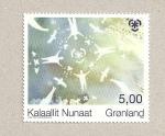 Stamps Greenland -  Pintura de hombres y nieve