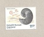 Sellos de Europa - Groenlandia -  Fósiles