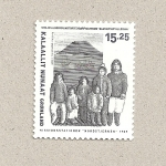 Sellos de Europa - Groenlandia -  Grupo de la misión