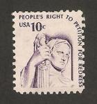 Sellos de America - Estados Unidos -  respeto a derechos del hombre