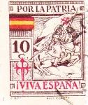 Sellos de Europa - España -  Por la Patria. Viva España