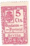 Stamps Spain -  Auxilio desvalidos. Diputación Provincial de Sevilla