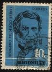 Stamps Uruguay -  Bernardo Prudencio Berro. Escritor, político y presidente de la República 1803-1868.