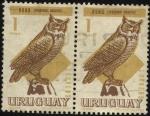 Sellos de America - Uruguay -  Buho. Virginianus ñacurutú.