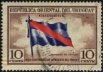 Sellos de America - Uruguay -  100 años de la muerte del Prócer. Bandera de Artigas.
