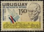 Sellos de America - Uruguay -  200 años del nacimiento del General Artigas. Éxodo del pueblo Oriental.