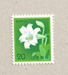 Stamps Japan -  Lirio blanco