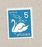 Sellos de Asia - Japón -  Cisne blanco