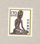 Sellos de Asia - Japón -  Templo Maitreya Horyuji
